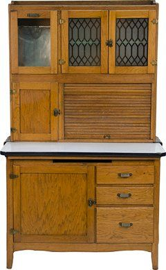 Great Oak Hoosier Cabinet. We Had One Almost Exactly Like This In Our Old House.