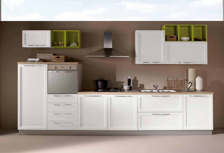 NetCucine - Cucina lineare in stile contemporaneo con ...