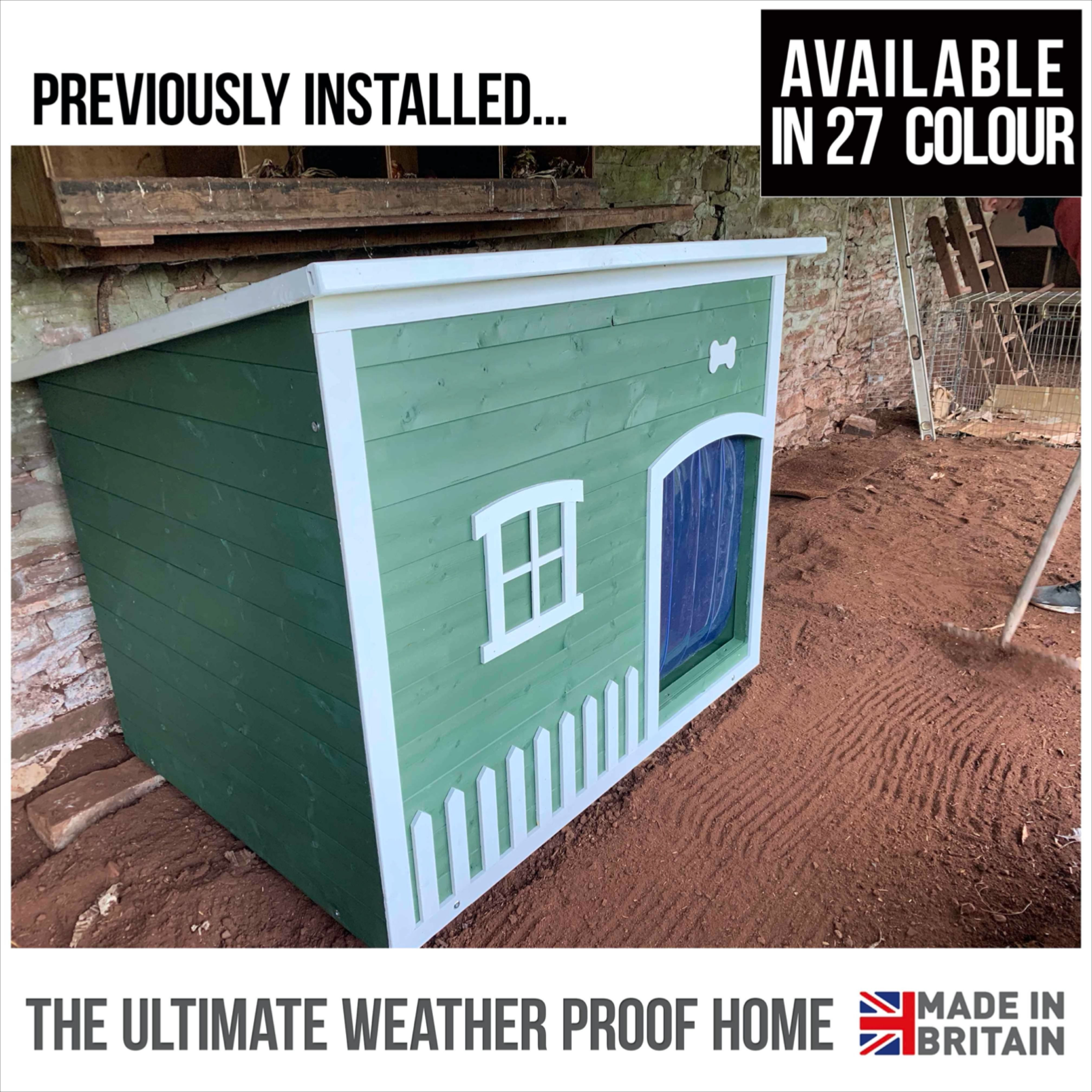 Excellent Pictures Insulated Winter Proof Dog Kennel XL Size in Forest Green col Excellent Pictures Insulated Winter Proof Dog Kennel XL Size in Forest Green colour Popul...