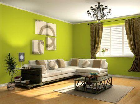 Verdes cálidos, medios y fríos para tus interiores  PintoMiCasa - colores calidos para salas