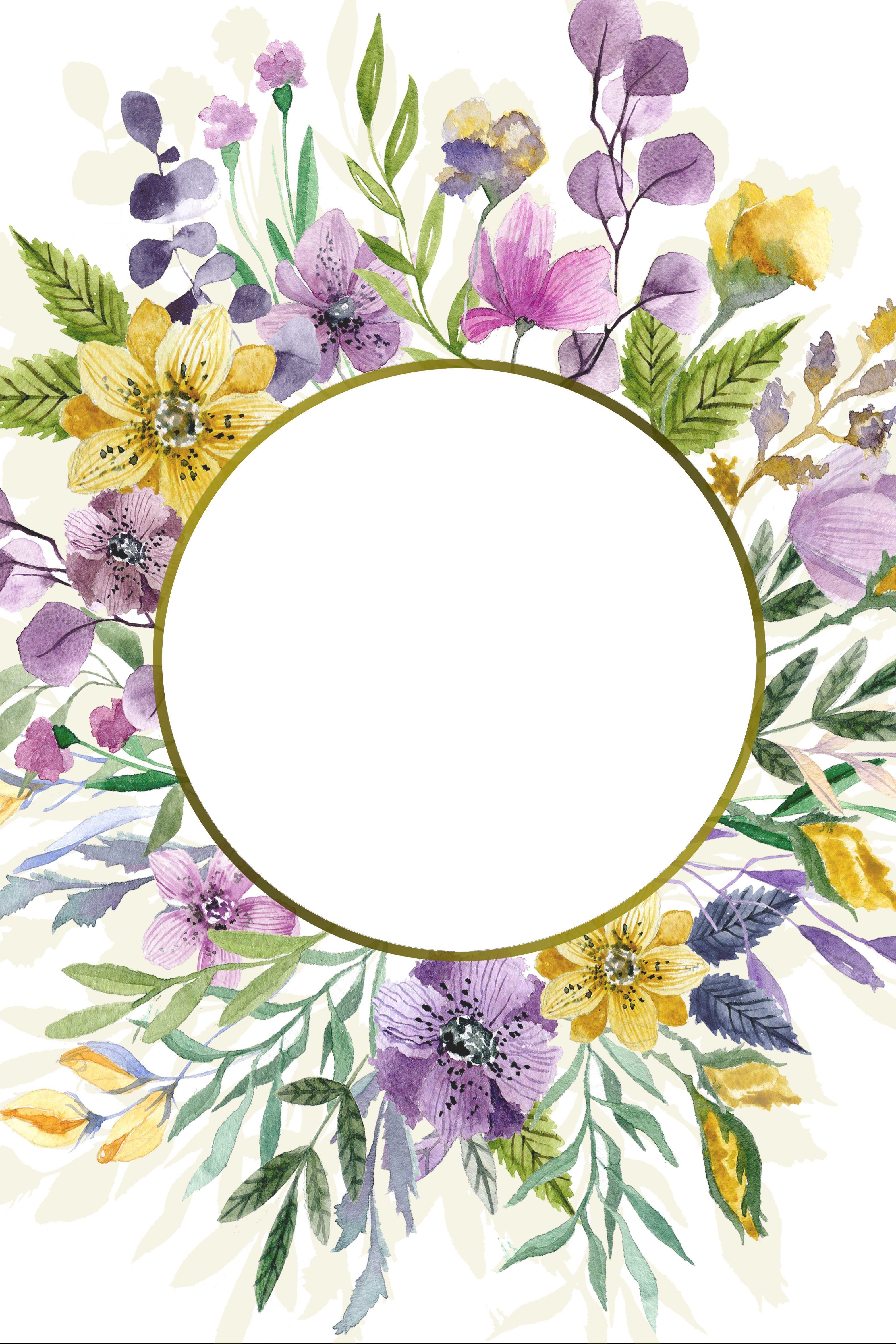 Buch gestalten Flower frame, Floral background, Flower