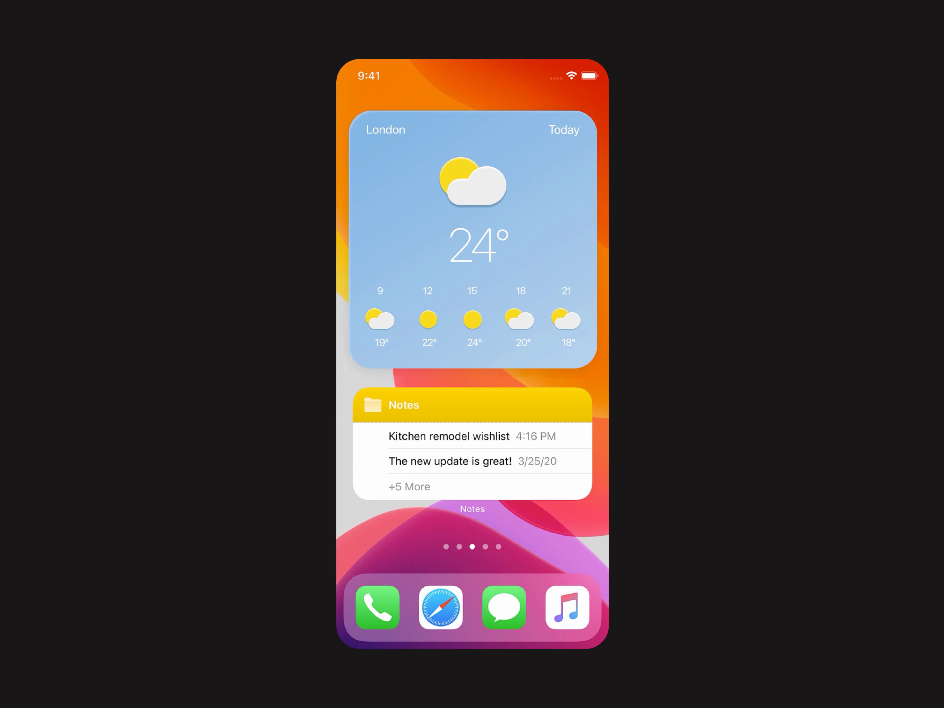 Ios14 Weather Widget By Ralabs In 2020 Widget Widget Design Weather