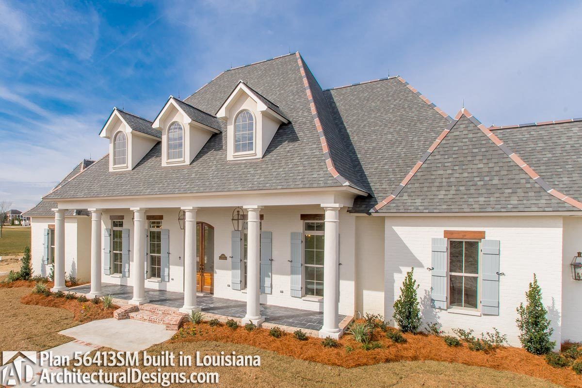 Plan 56413sm Luxury Southern Home Plan With Boat Garage And Many Extras Southern House Plans Open Floor House Plans Ranch House Exterior
