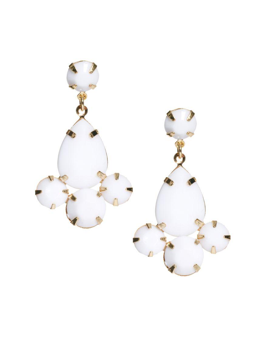Asos mixed stone earrings shop pinterest white earrings