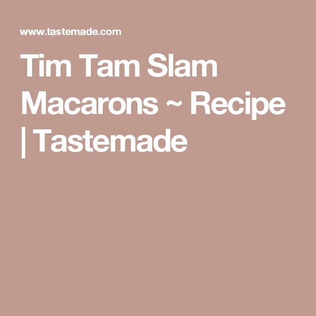 Tim Tam Slam Macarons ~ Recipe | Tastemade