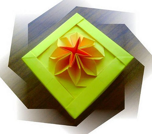 New origami flower box flower boxes origami and box new origami flower box mightylinksfo