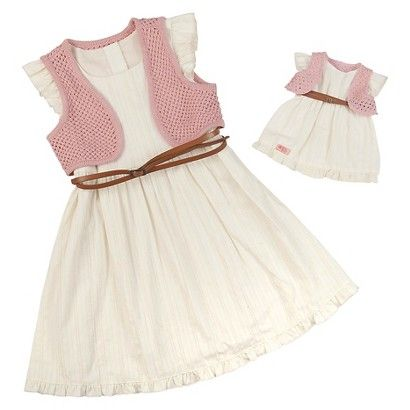 """18/"""" doll clothes-fits American Girl Our Generation My Life-Dress-Dots Pale Pink"""