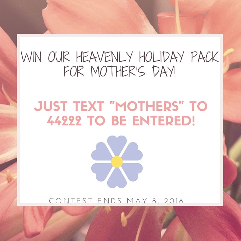 "Just text ""MOTHERS"" to 44222 to be entered to win 4 great flavors - Almond, Anise, Lemon & Pure Vanilla!"