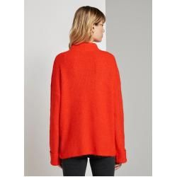 Photo of Tom Tailor Denim Damen Strickpullover mit großen Ärmeln, rot, Gr.xs Tom TailorTom Tailor