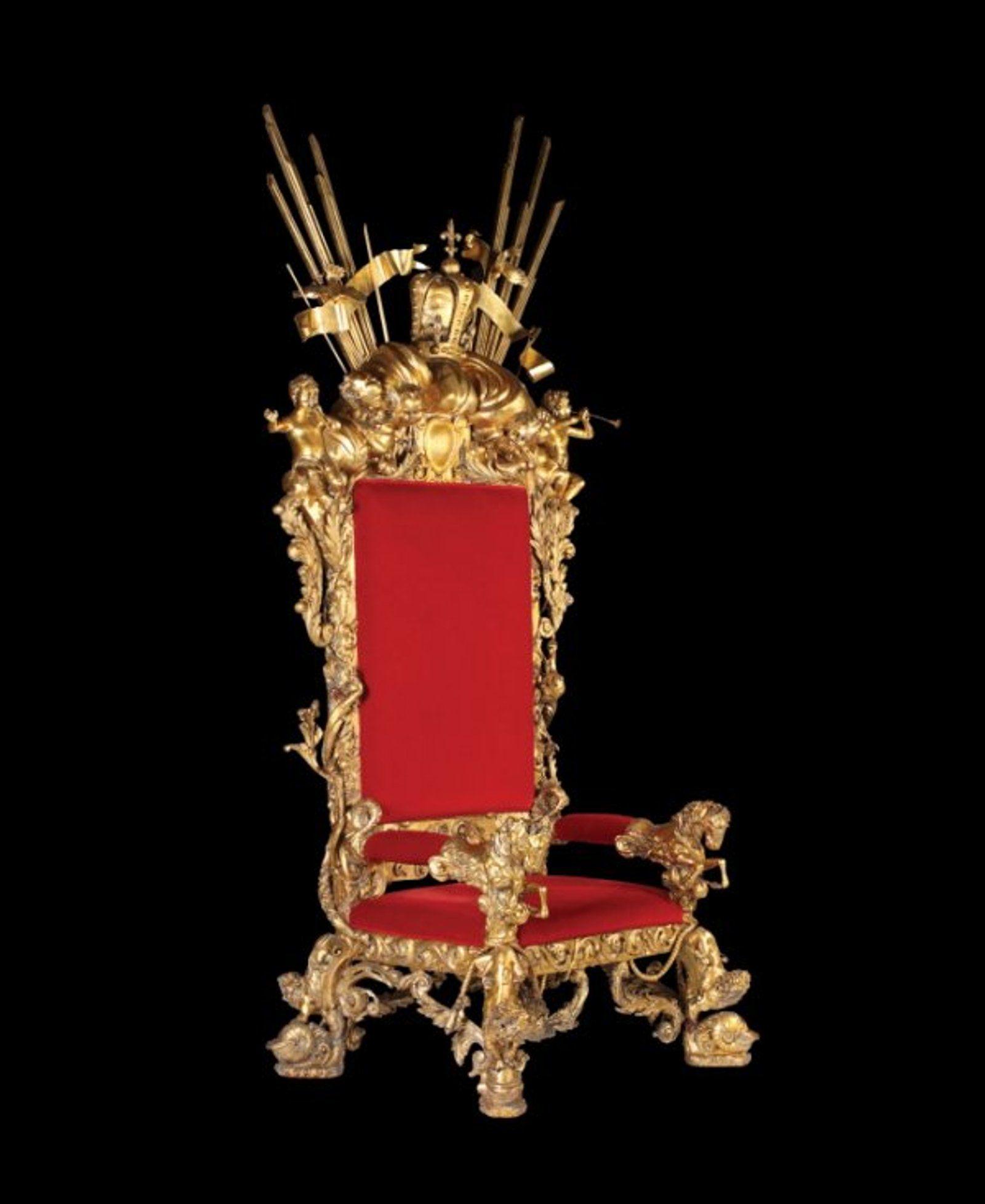 519 Monumental Gilded Throne Art Decor Michael Jackson Art Chair