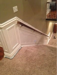 Best Upstairs Redo Staircase Design Chair Rail Picture 400 x 300