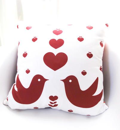 Love birds pillow is a perfect gift for the for the valentine's day season or every occasion.
