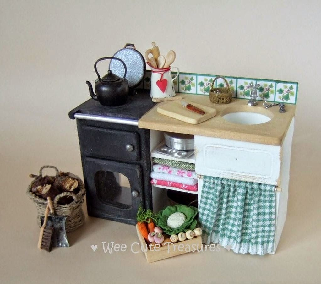 Finally Work Has Resumed Miniature Kitchen Miniature Furniture