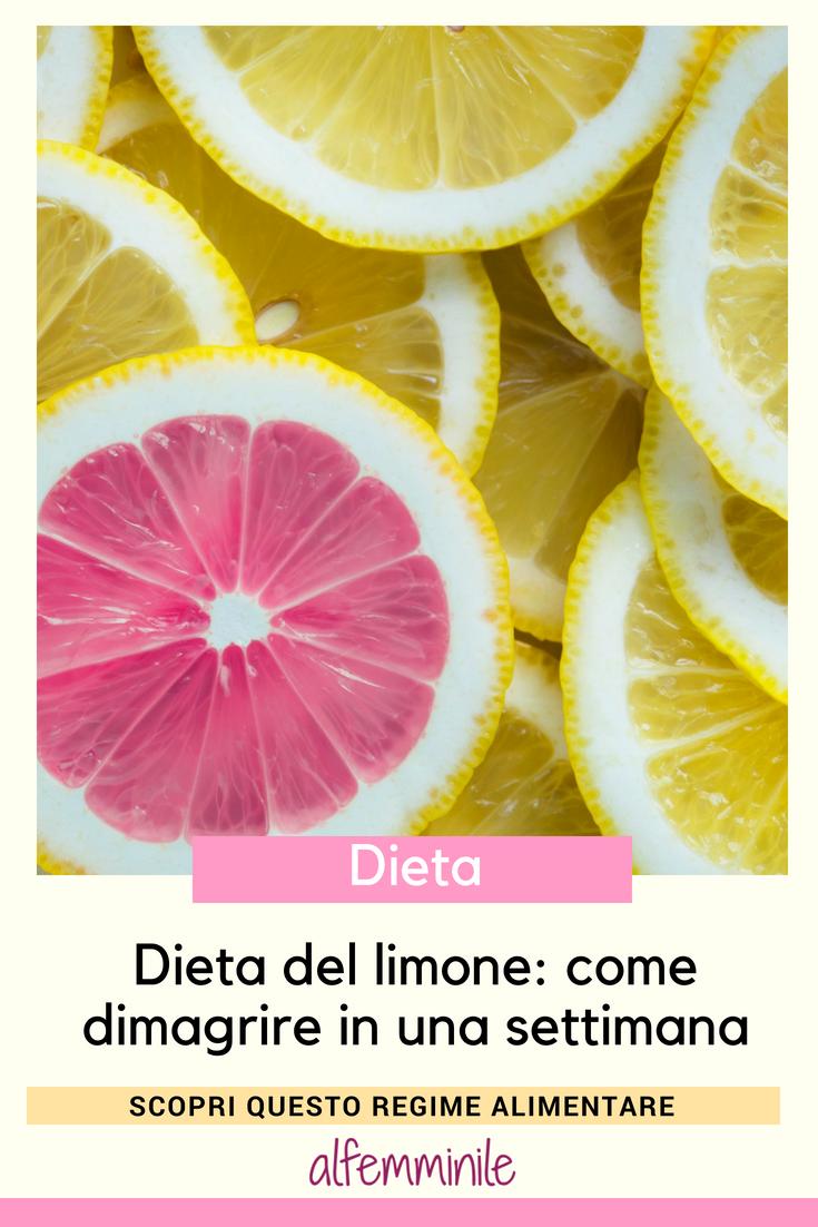 dieta del limone per dimagrire