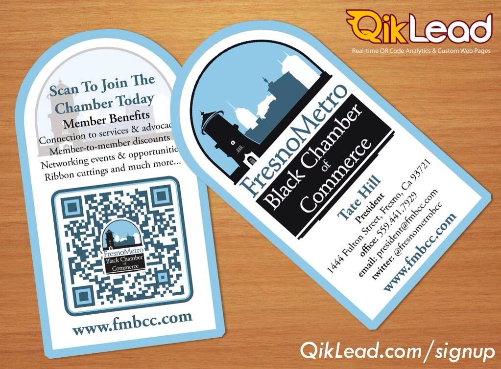 Fresno Metro Black Chamber of Commerce interactive business cards ...