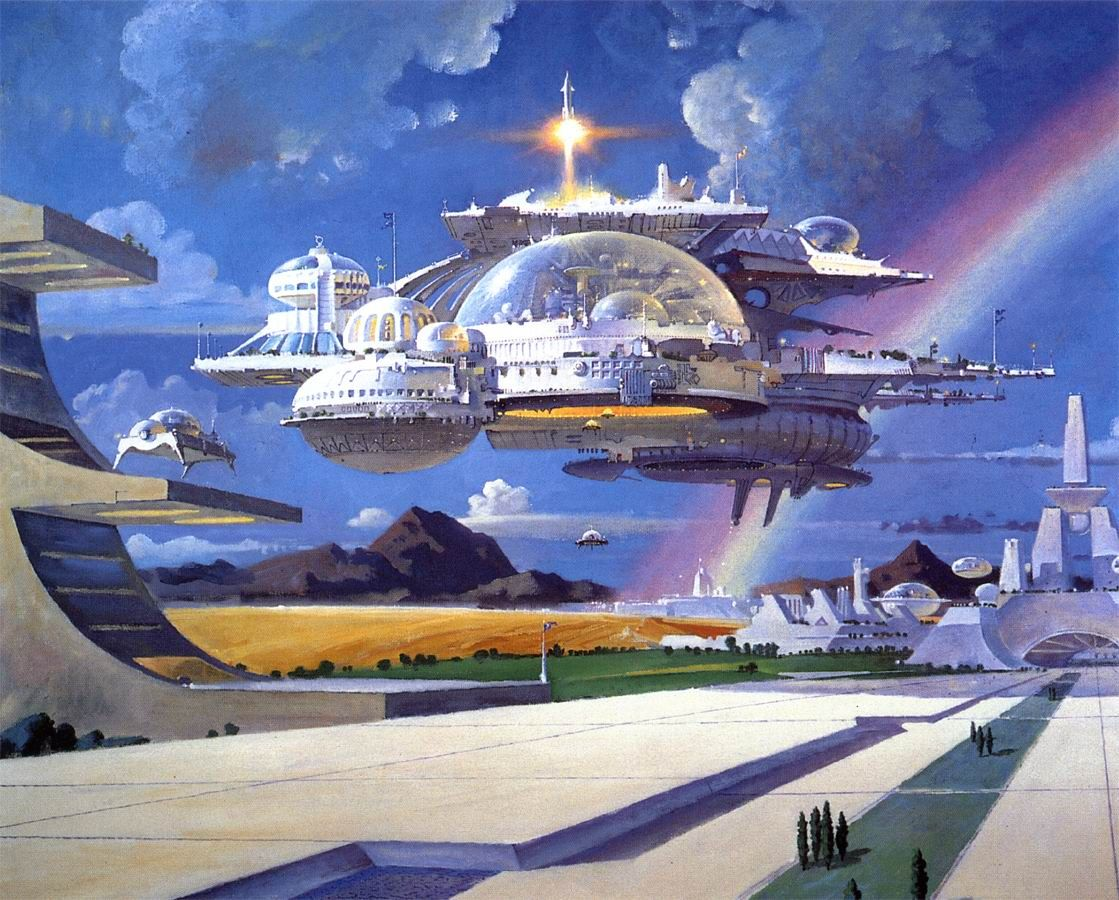 City in Flight by Robert T McCall