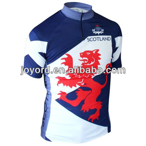Scotland Lion Rampant Short Sleeve Jersey Picture On