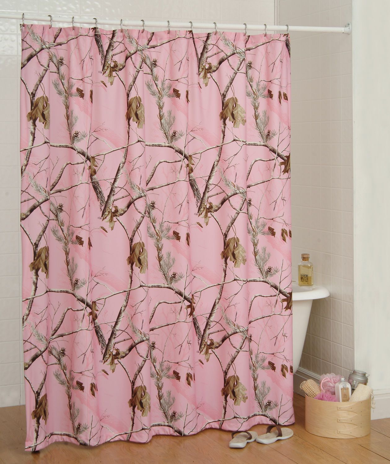 Realtree Ap Pink Camouflage Shower Curtain Camo Bath Accessories Camo