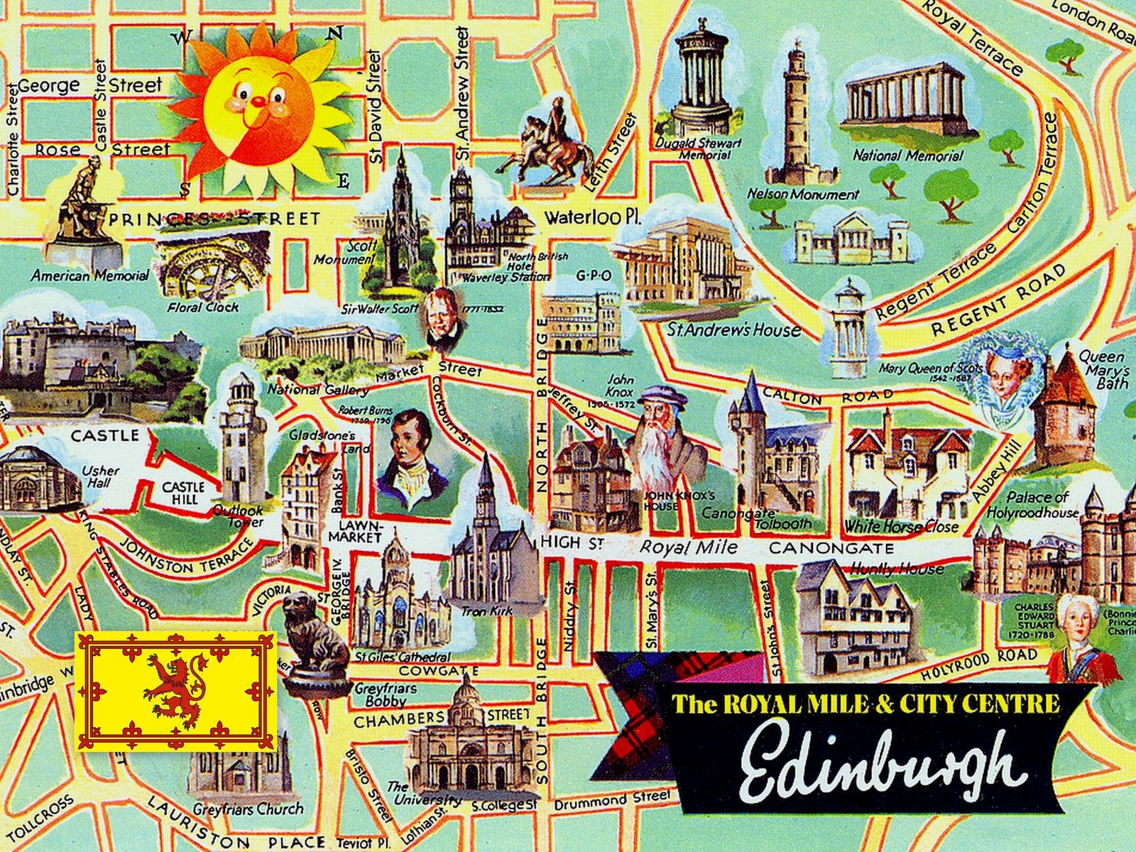 tourist map of edinburgh Google Search Gezmeler tozmalar