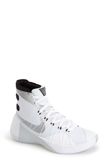 Nike \u0027Hyperdunk 2015\u0027 Basketball Shoe in White (WHITE/ BLACK/ SILVER)