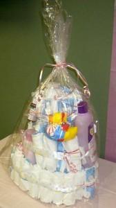 Baby Shower Diaper Cake - Easy tutorial
