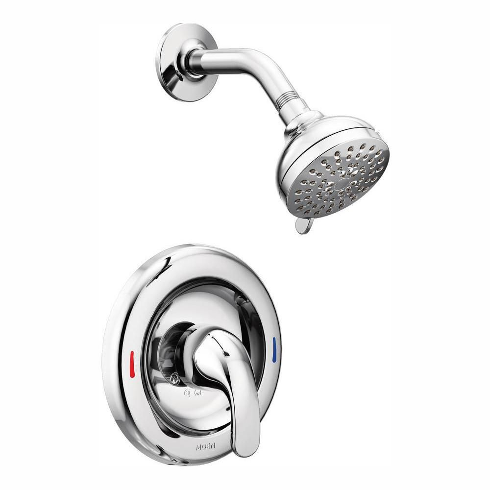 Moen Adler 1 Handle 4 Spray Shower Faucet With Valve In Chrome
