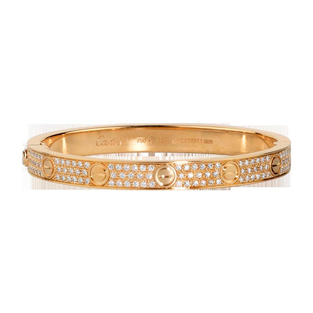 Cartier Love Bracelet From The 70's18k Pink Gold & Diamondn