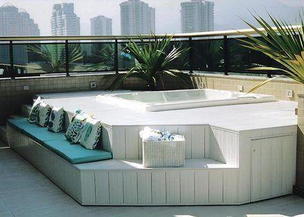Foto pinterest) Terraço Pinterest Projetos de piscinas