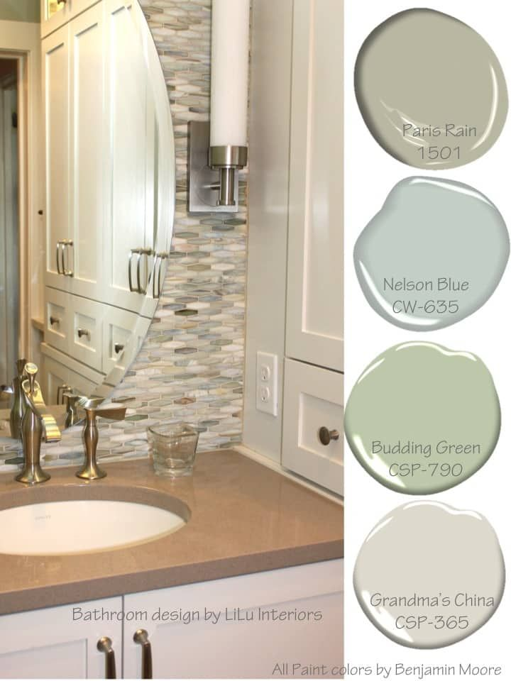Soothing Color Palettes Lilu S Look Of The Day Lilu Interiors French Country Bathroom Bathroom Colors Paint Colors For Home