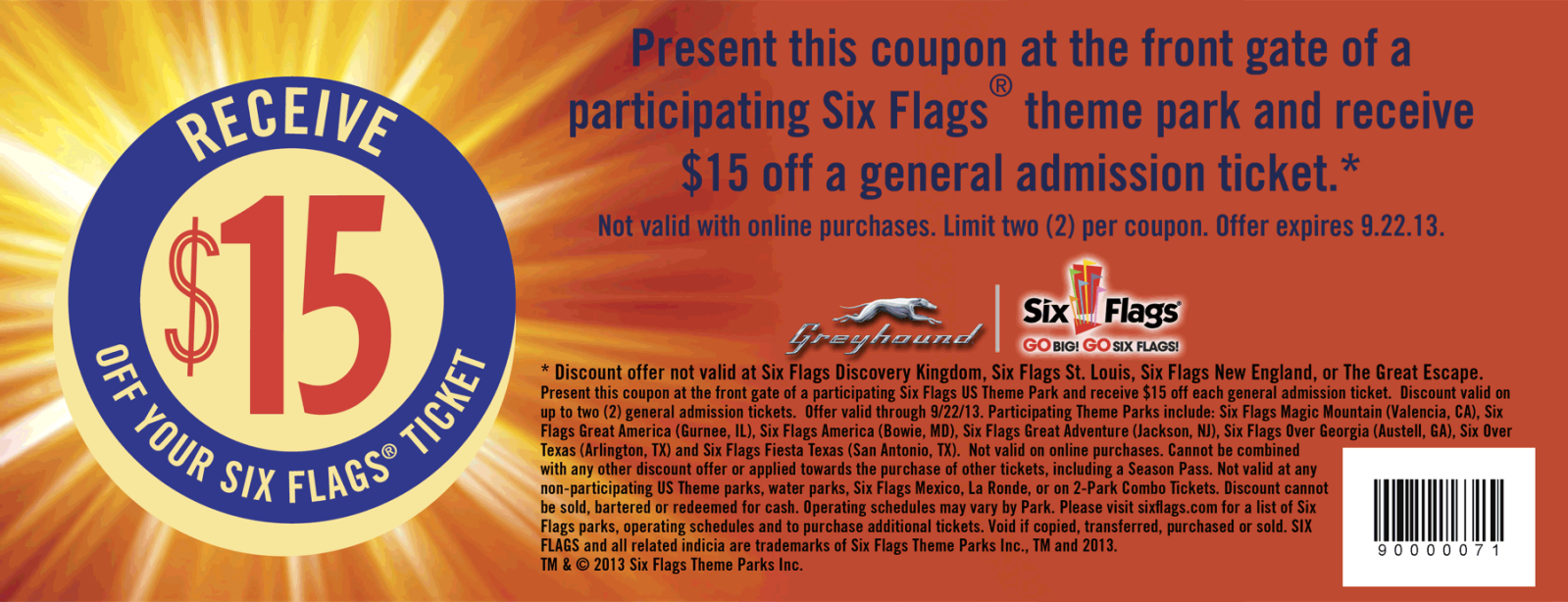 Pinned August 3rd 15 Off Your Tickets To Six Flags Theme Parks Coupon Via The Coupons App Printable Coupons Coupon Apps Coupons