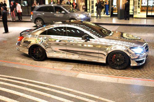 Chrome Wrapped Mercedes Cls63 Vehicles Car Wrap Chrome