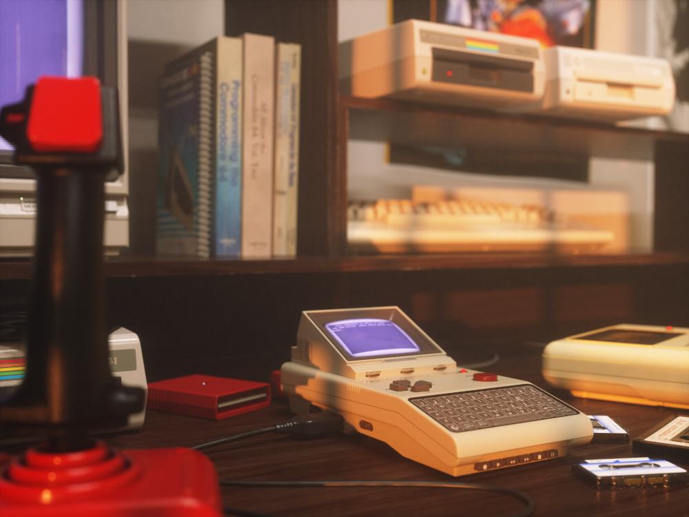 Artstation Retro Computer Desk Revisited Cem Tezcan In 2020