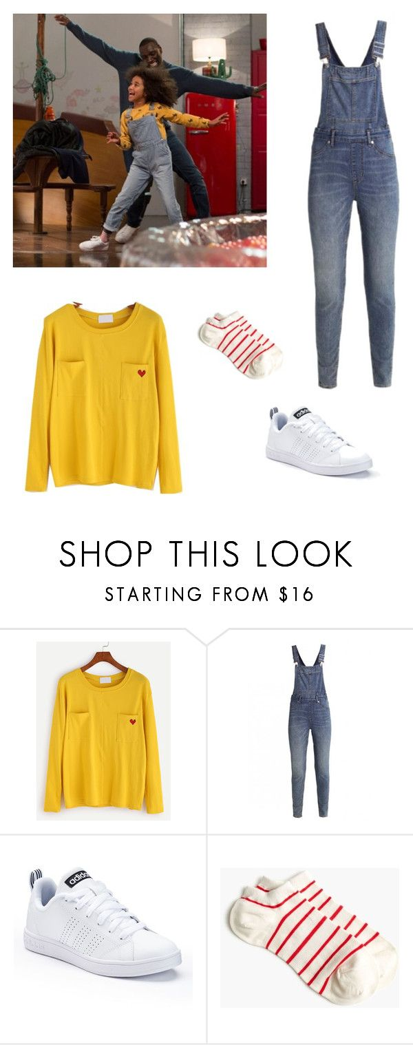 """How to get the look of Gloria in the french movie ""demain tout commence"" (Tommorow everything begging)"" by julietteblt on Polyvore featuring mode, Cheap Monday, adidas et J.Crew"