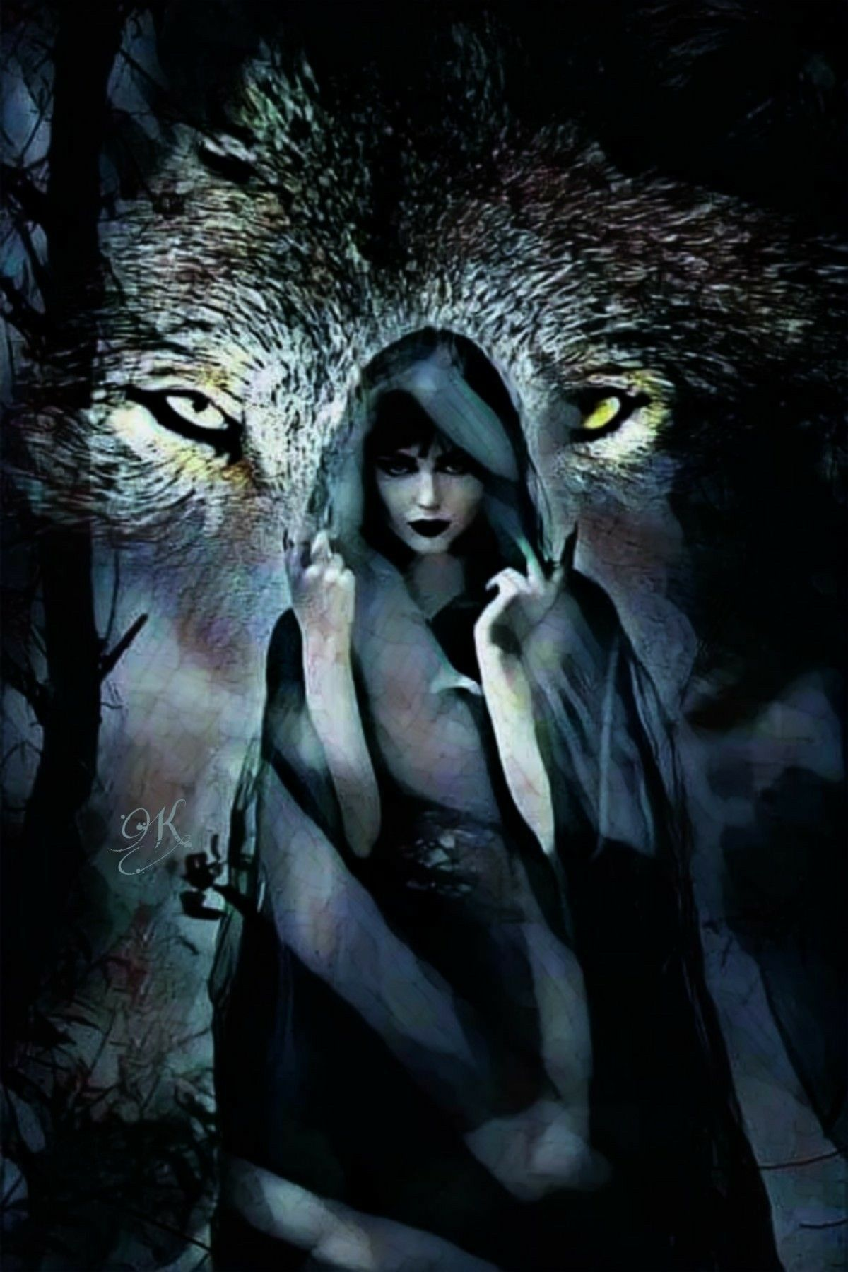 Pin by Sandy on lobos | Wolf art, Wolves and women, Magical wolf