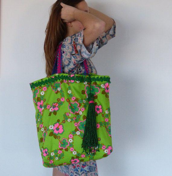 boho chic handbags bohemian purse vintage fabric by vquadroitaly