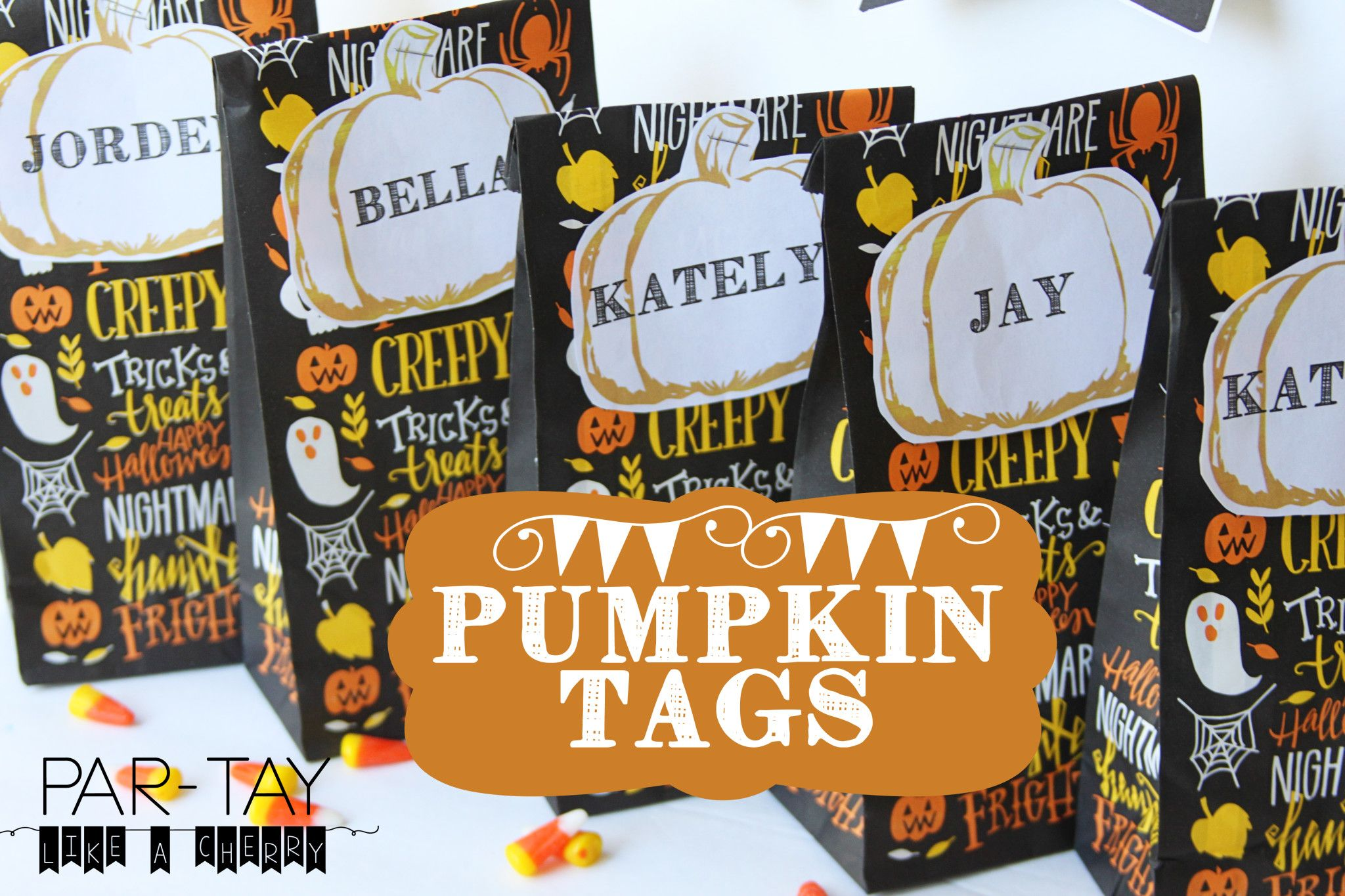 Pumpkin Tags Free Printable Activities Primary Halloween Party