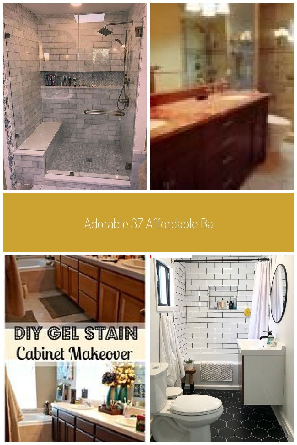 Adorable 37 Affordable Bathroom Remodel Design Ideas On A Budget That Will Inspi Ba In 2020 Affordable Bathroom Remodel Bathrooms Remodel Bathroom Remodel Designs