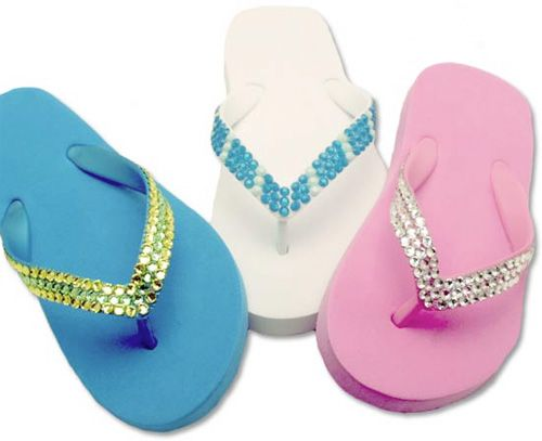 8886e6a27bfd Bling your Flip Flops with Flatback Rhinestones