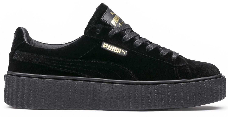 sports shoes 726d5 cbbb3 PUMA x Rihanna Fenty Creeper Velvet Black/Black Style Code ...