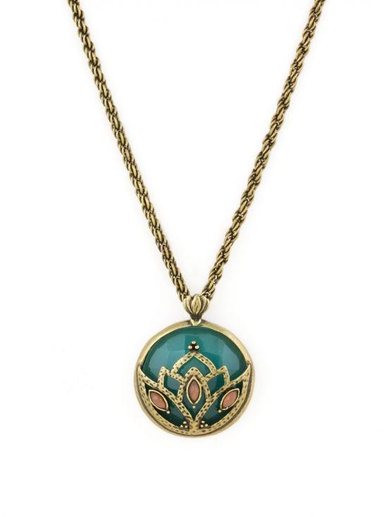 Jade Lotus Pendant