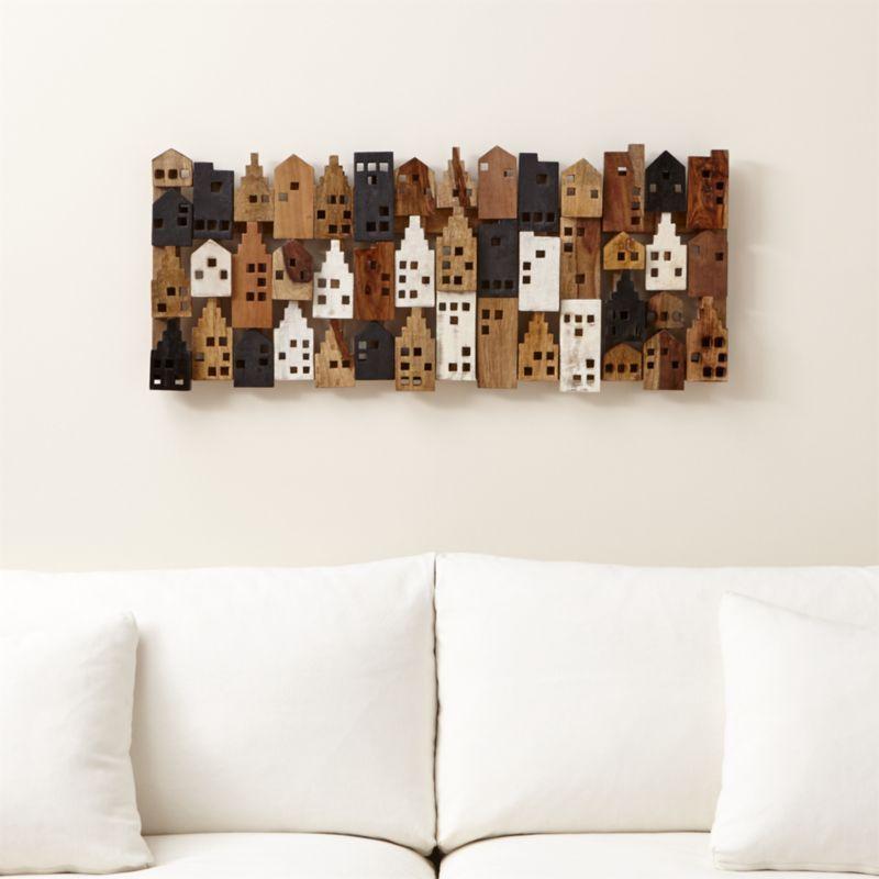 Shop Village Rectangular Wall Art. This charming wood wall decor