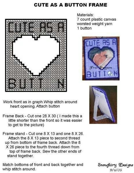 Cute as a button picture frame | Picture Frames PC | Pinterest ...