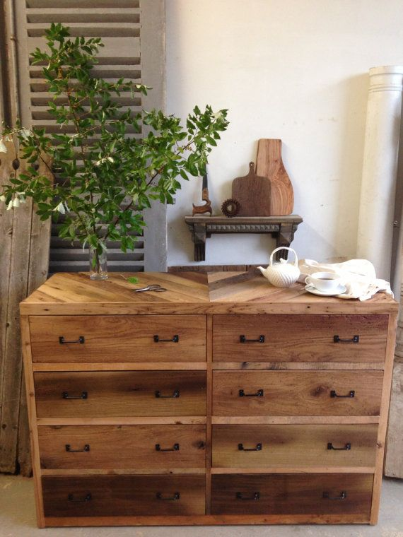 8 Drawer Barn Wood Dresser By Newantiquity Bedroom Furniture Rustic Country  Home Urban Modern Pallet New
