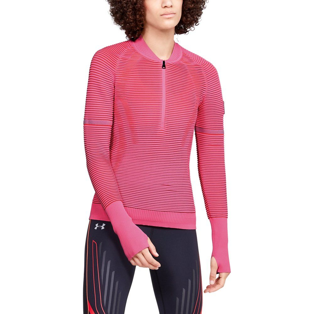 Photo of Under Armour Womens IntelliKnit 2.0 ½ Zip – Pink XS