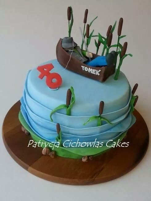 fisherman cake by patrycja cichowlas cakes f r m nner pinterest motivtorten torten und. Black Bedroom Furniture Sets. Home Design Ideas