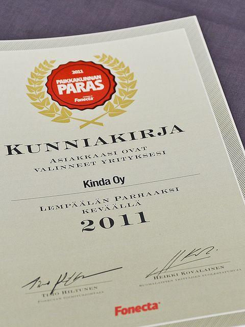 Kunniakirja, Paikkakunnan paras 2011 -kilpailu by PauliinaMakela, via Flickr
