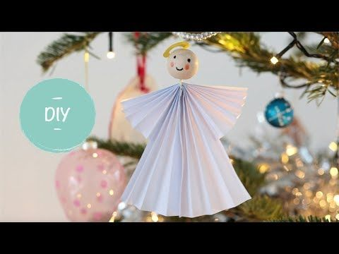Een kerstengel vouwen - Leuk voor in de kerstboom