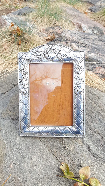 Vintage Framemexican Handcrafted Metal Wood Framephoto Frame