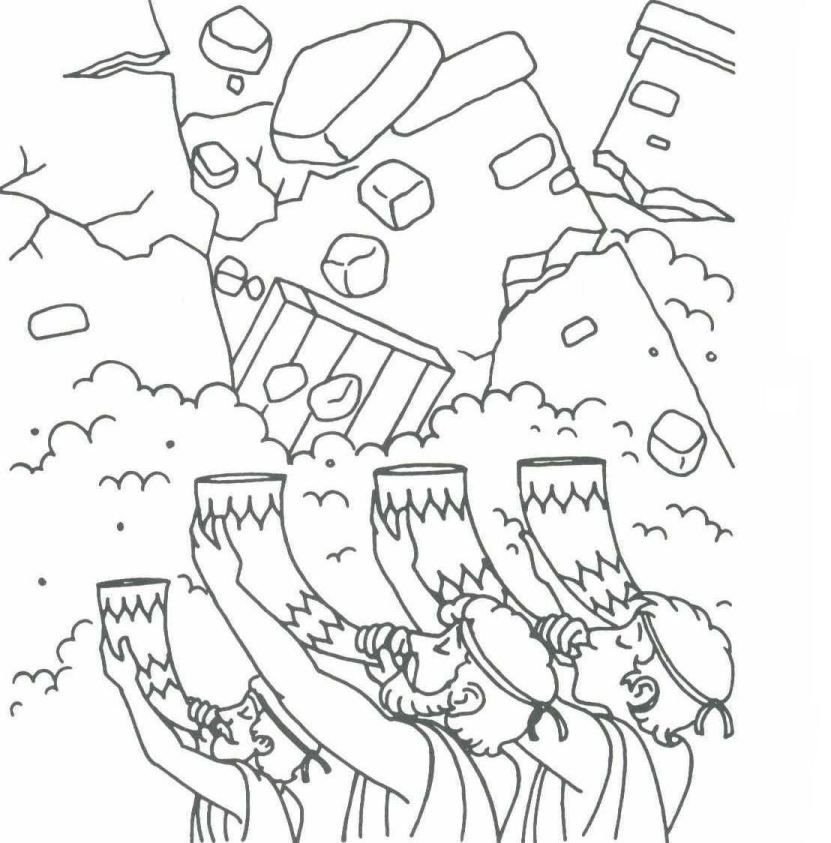 Joshua And Jerico Colouring Pages Sktch Outline Sunday School