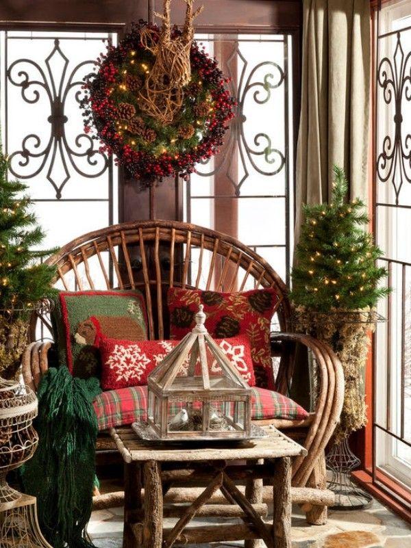 Weihnachtsdeko Landhausstil weihnachtsdeko landhausstil gemütlicher erholungsbereich schöne